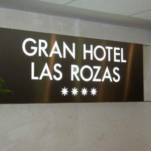 Rótulo luminoso para hotel Gran Hotel Las Rozas